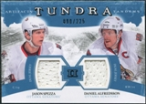 2011/12 Upper Deck Artifacts Tundra Tandems Jerseys Blue #TT2AS Jason Spezza / Daniel Alfredsson /225