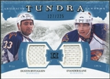 2011/12 Upper Deck Artifacts Tundra Tandems Jerseys Blue #TT2DE Dustin Byfuglien / Evander Kane /225