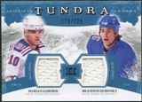 2011/12 Upper Deck Artifacts Tundra Tandems Jerseys Blue #TT2GD Marian Gaborik / Brandon Dubinsky /225