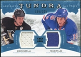 2011/12 Upper Deck Artifacts Tundra Tandems Jerseys Blue #TT2JM Jordan Staal / Marc Staal /225