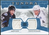 2011/12 Upper Deck Artifacts Tundra Tandems Jerseys Blue #TT2LG Vincent Lecavalier / Simon Gagne /225