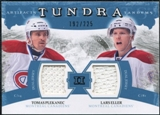 2011/12 Upper Deck Artifacts Tundra Tandems Jerseys Blue #TT2PE Tomas Plekanec / Lars Eller /225
