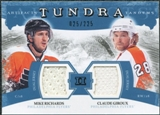 2011/12 Upper Deck Artifacts Tundra Tandems Jerseys Blue #TT2RG Mike Richards / Claude Giroux /225
