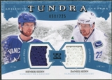 2011/12 Upper Deck Artifacts Tundra Tandems Jerseys Blue #TT2SS Henrik Sedin / Daniel Sedin /225