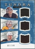 2011/12 Upper Deck Artifacts Tundra Trios Jerseys Blue #TT3BOS Tuukka Rask Tim Thomas Zdeno Chara /149