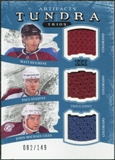 2011/12 Upper Deck Artifacts Tundra Trios Jerseys Blue #COL Matt Duchene Paul Stastny John Michael Liles /149