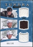 2011/12 Upper Deck Artifacts Tundra Trios Jerseys Blue #TT3DAL Brad Richards Jamie Benn Loui Eriksson /149