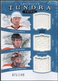 2011/12 Upper Deck Artifacts Tundra Trios Jerseys Blue #PHI Claude Giroux Mike Richards Sergei Bobrovsky /149