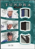 2011/12 UD Artifacts Tundra Trios Patches Emerald #BOLT Steven Stamkos Martin St. Louis Vincent LeCavalier /20
