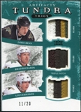 2011/12 Upper Deck Artifacts Tundra Trios Patches Emerald #TT3DAL Jamie Benn Brad Richards Loui Eriksson /20