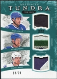 2011/12 Upper Deck Artifacts Tundra Trios Patches Emerald #TT3VAN Ryan Kesler Henrik Sedin Daniel Sedin /20