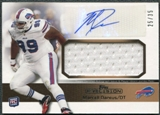 2011 Topps Precision Rookie Jumbo Relic Autographs Gold #RAJRMD Marcell Dareus Autograph 25/35
