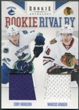 2011/12 Panini Rookie Anthology Rookie Rivalry Dual Jerseys #46 Cody Hodgson/Marcus Kruger