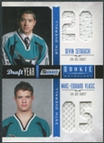 2011/12 Panini Rookie Anthology Draft Year Combo Jerseys #18 Devin Setoguchi/Marc-Edouard Vlasic