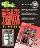 1991 Classic Major League Baseball MLB Trivia Board Game Series 2