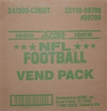 1989 Score Football Vending 24-Box Case