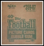 1987 Topps Football Wax 20-Box Case