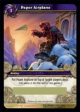 WoW March of the Legion Single Paper Airplane (MoL-LOOT1) Unscratched Loot Card