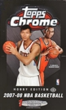2007/08 Topps Chrome Basketball Hobby Box