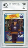 1988/89 O-Pee-Chee #194 Pierre Turgeon RC Rookie Card BCCG 10
