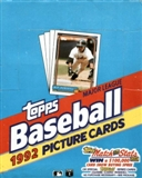1992 Topps Baseball Rack Box
