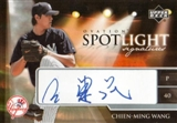 2006 Upper Deck Ovation Spotlight Signatures #SS-CW Chien-Ming Wang
