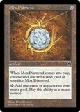 Magic the Gathering Stronghold Single Mox Diamond MODERATE PLAY (VG/EX)
