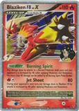 Pokemon Supreme Victors Single Blaziken FB lv. X 142/147 - MODERATE PLAY ( MP)