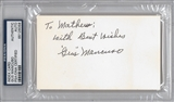 Gus Mancuso Autographed Index Card (PSA)