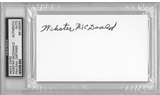 Webster McDonald Autographed Index Card (PSA) *6062