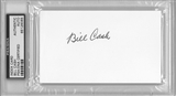 Bill Cash Autographed Index Card (PSA) *6065