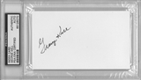 George Kell Autographed Index Card (PSA)