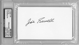 Joe Sewell Autographed Index Card (PSA) *6071