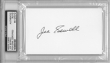 Joe Sewell Autographed Index Card (PSA) *6072