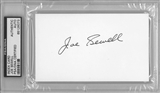 Joe Sewell Autographed Index Card (PSA) *6073