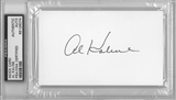 Al Kaline Autographed Index Card (PSA)