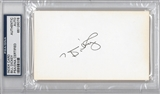 Bill Dickey Autographed Index Card (PSA) *6076