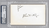 Bill Dickey Autographed Index Card (PSA) *6077