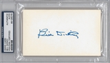 Bill Dickey Autographed Index Card (PSA) *6078