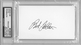 Bob Feller Autographed Index Card (PSA) *6083