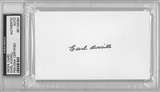 Earl Averill Autographed Index Card (PSA) *6084