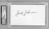 Judy Johnson Autographed Index Card (PSA) *6087