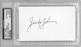Judy Johnson Autographed Index Card (PSA) *6090