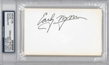 Early Wynn Autographed Index Card (PSA) *6094