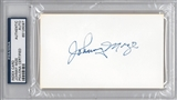 Johnny Mize Autographed Index Card (PSA) *6097