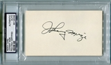 Johnny Mize Autographed Index Card (PSA) *6098
