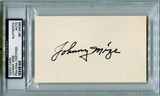 Johnny Mize Autographed Index Card (PSA) *6099