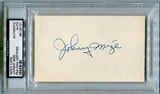 Johnny Mize Autographed Index Card (PSA) *6101