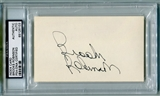 Brooks Robinson Autographed Index Card (PSA) *6103