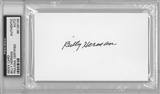 Billy Herman Autographed Index Card (PSA) *6105